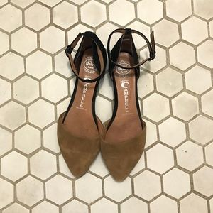Jeffrey Campbell Black/Brown Suede Flats Size 6